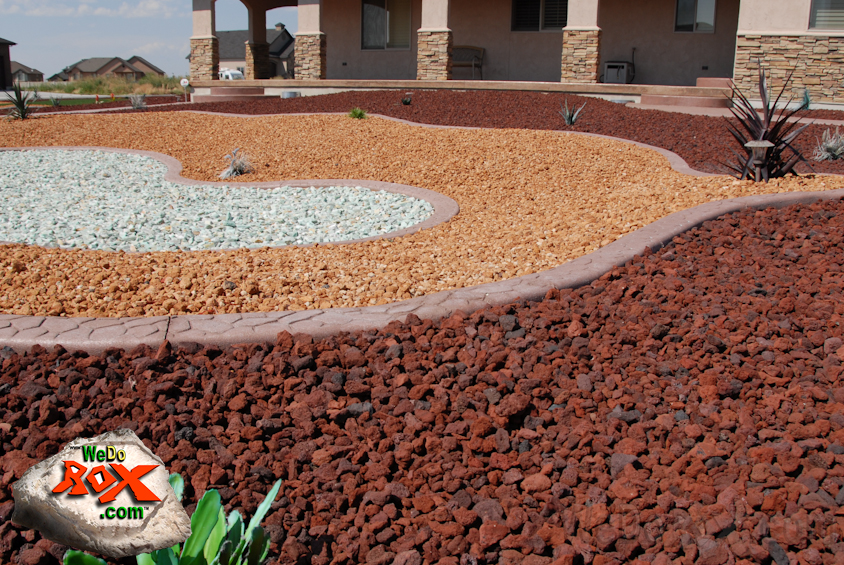 fire volcano decorative gravel is reddish orange lava that has been crushed to the correct sizes there are always a few pieces of brown and black mixed in - Decorative Gravel