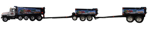 Dump Truck and Trailers
